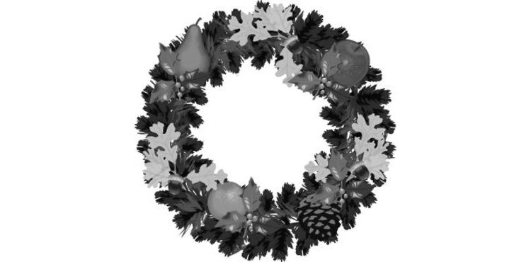 Gray Christmas Wreath