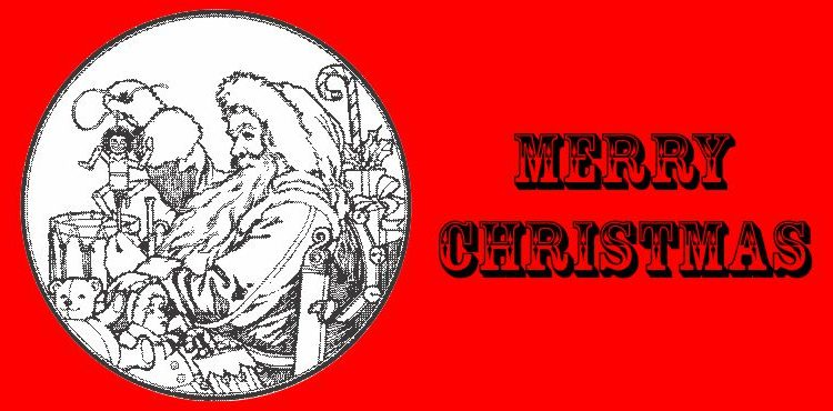 Merry Christmas: Santa in a Circle