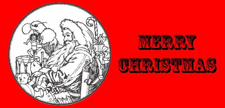 Merry Christmas: Santa in a Circle