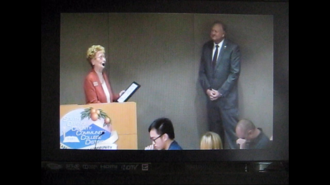 Comedian Joyce Van Schaack Honors President Tod Burnett
