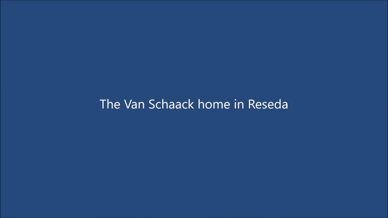 The Van Schaack's Reseda Home in 1958