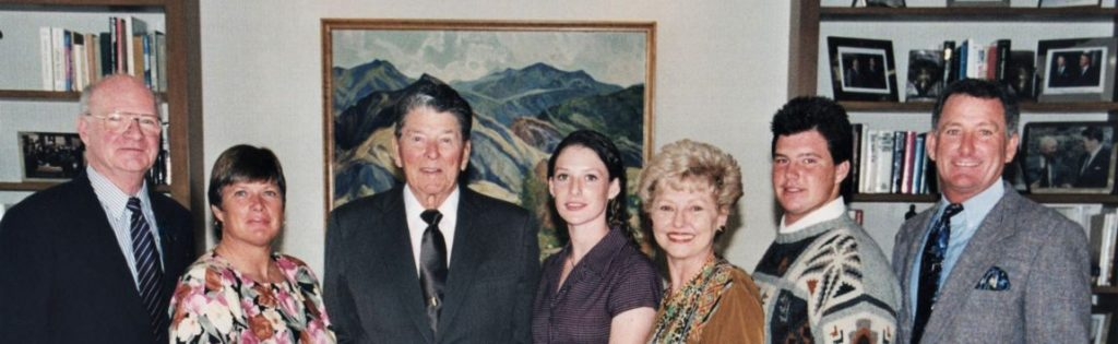 President Reagan and part of the Van Schaack Family