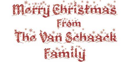 Van Schaack Christmas Letter 2020
